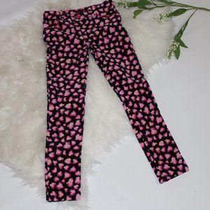 Pink Hearts and Black Girls JeggingsPants - Size 7